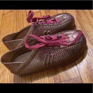 Mini Melissa Sneaker - Pink multi glitter